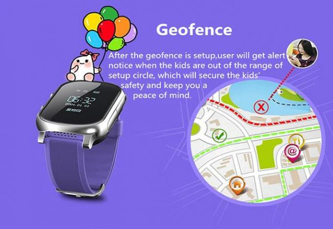 Anti - Lost GPS Locator Watch Digital Smart Talking SOS Key  For IOS Android