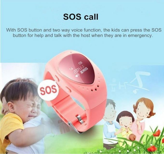 Mini Size GPS Locator Watch Reliable SOS Button Light Sensor Quad - Band GSM