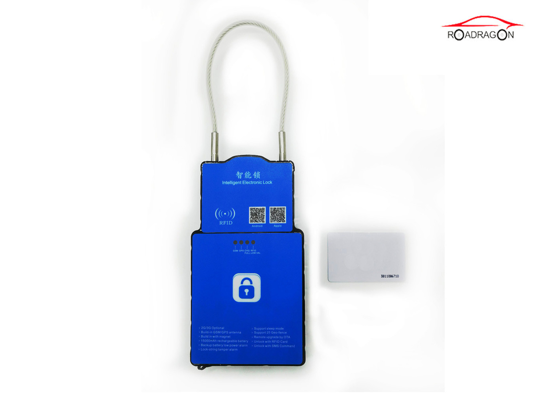 Track Playback IOT GPS Container Lock , Secure Remote Padlock Smart Waterproof