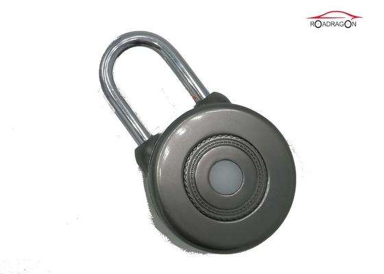 China Black Zinc Alloy Remote Control Padlock , Cloud Storage GSM Padlock Embedded System factory